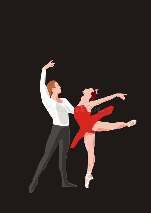 Ballet (vector) royalty-vrije illustratie