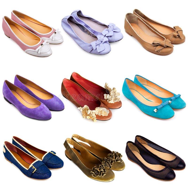 Ballet vlakke schoen-2 stock afbeelding