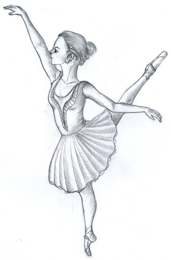 Balletdanser royalty-vrije illustratie