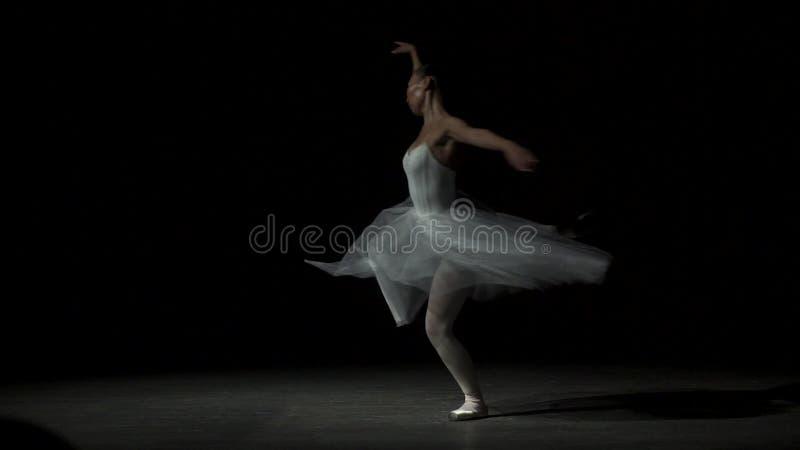 Balletdanser Dancing With Tutu stock footage
