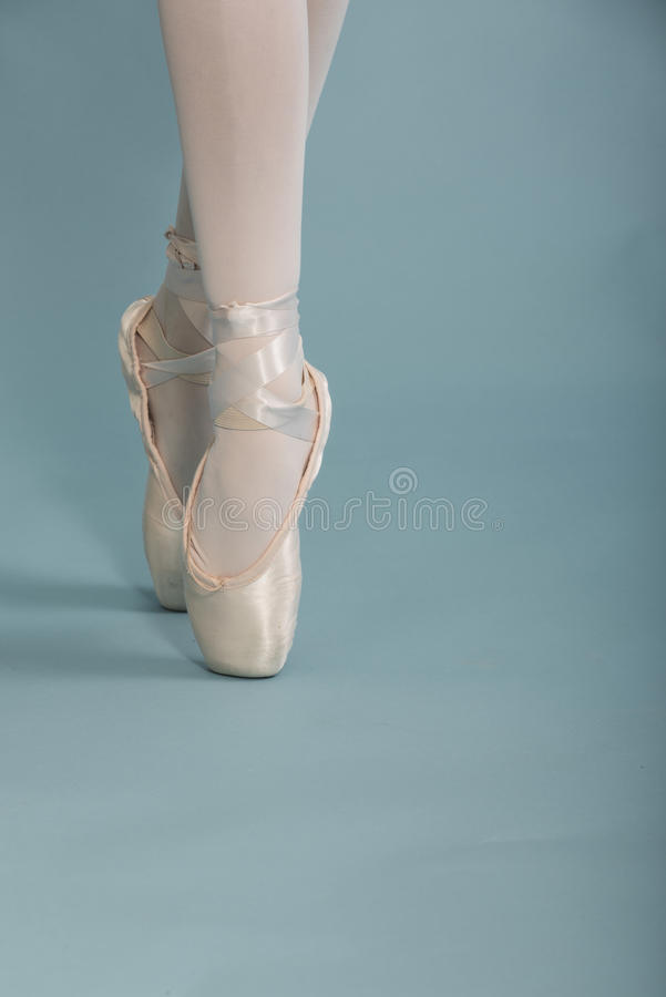 Balletdanser On Pointe royalty-vrije stock foto