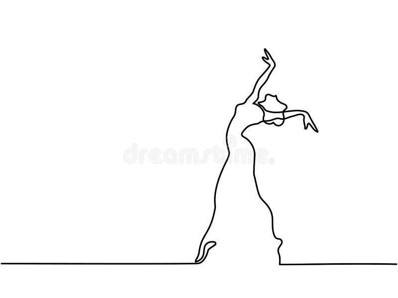 Balletdanserballerina royalty-vrije illustratie