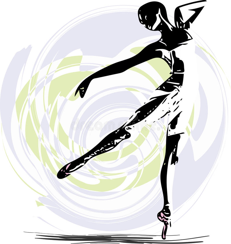 Balletdanserillustratie vector illustratie