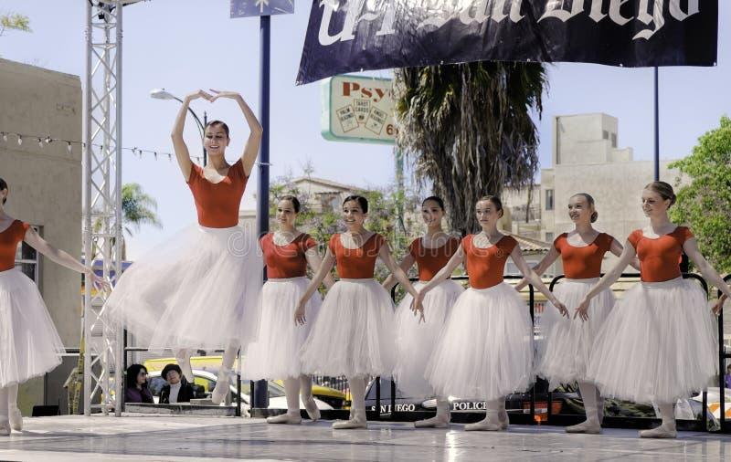Balletdansers, ArtWalk, San Diego stock foto