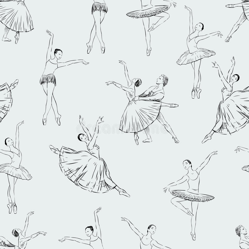 balletdanserspatroon royalty-vrije illustratie