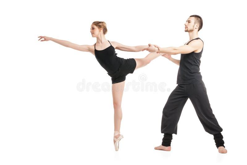 Balletpaar het dansen royalty-vrije stock fotografie