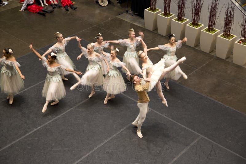 Balletprestaties op Dallas 2017 van vakantienorthpark stock afbeelding
