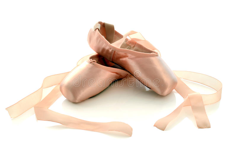 Ballett pointe Schuhe stockfoto