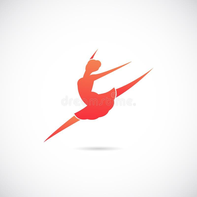 Ballett-Tänzer-Silhouette Vector Symbol-Ikone oder lizenzfreie abbildung