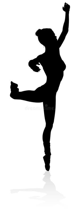 Ballett-Tanzen-Schattenbild lizenzfreie abbildung