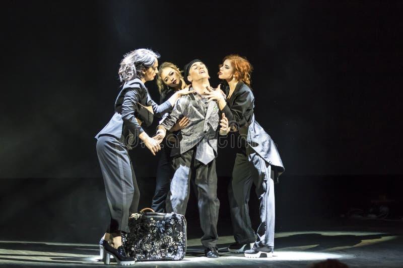Ballett-Vorsorge in dem Stadium der nationalen Oper von Ukraine stockbilder