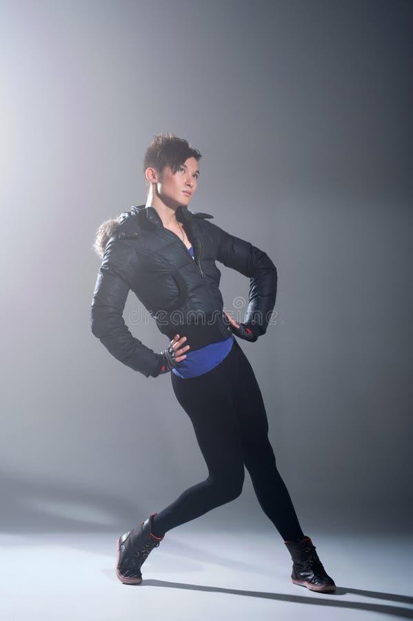 Balletto di dancing dell'uomo fotografia stock