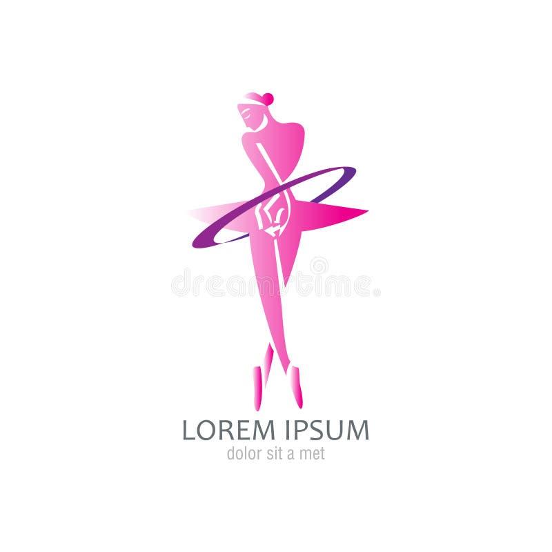 Balletto di dancing della donna illustrazione vettoriale