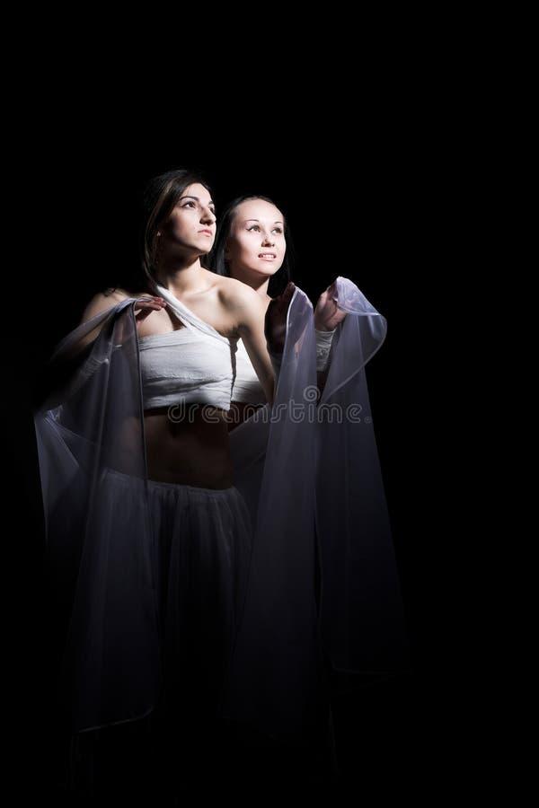 Download Balletto nel semidarkness fotografia stock. Immagine di vestiti - 7303574