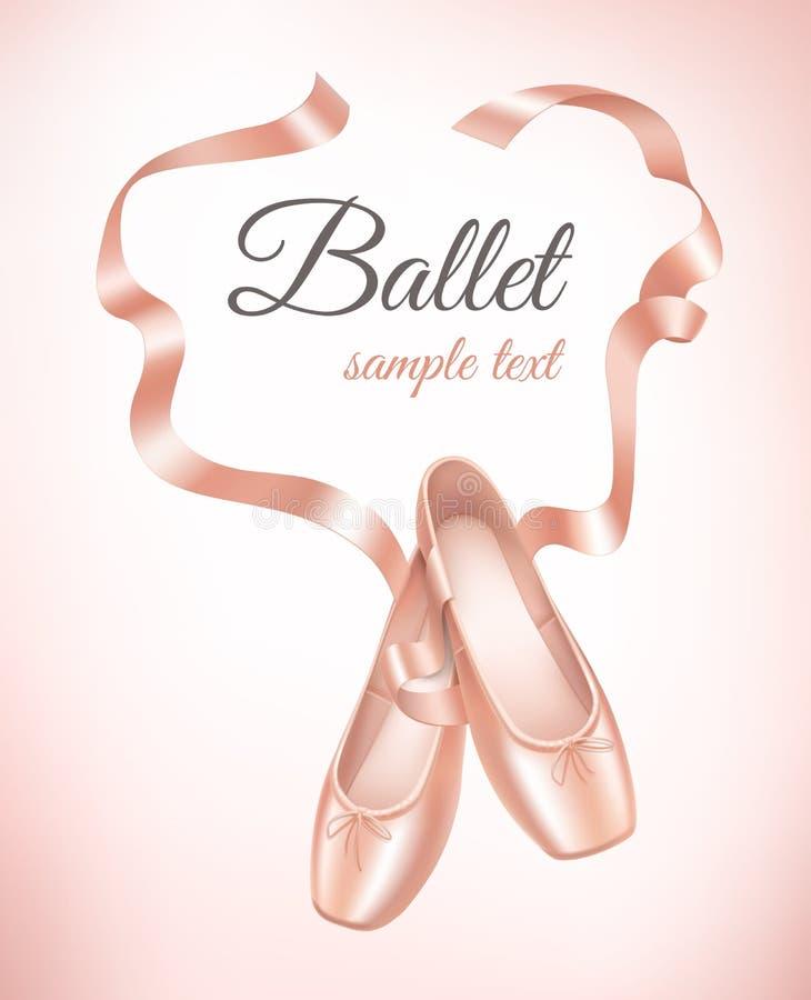 Ballettschuhe auf Hintergrund stock abbildung