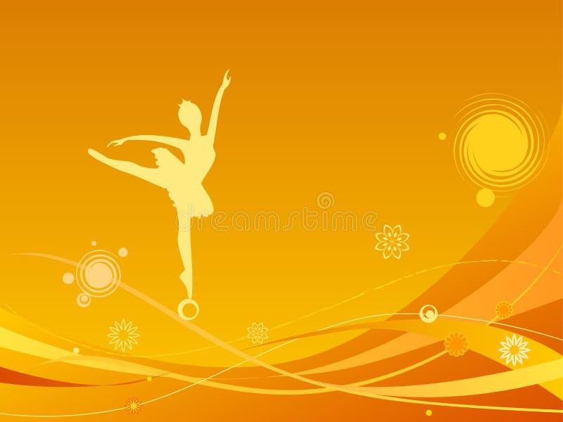 Balletttänzer im Auszug vektor abbildung