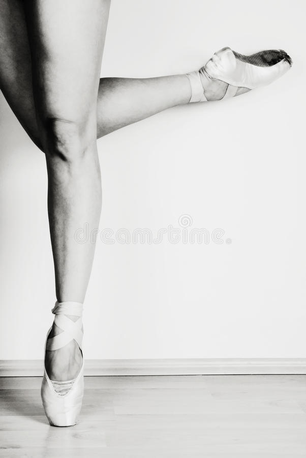 Balletttänzer im Punkt stockfotografie