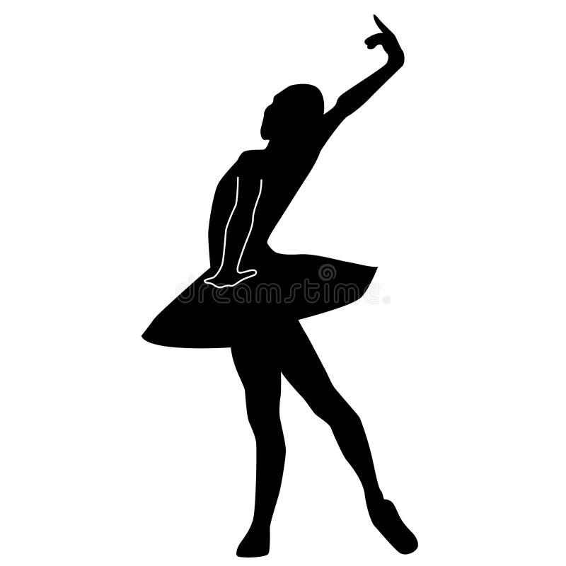 Balletttänzerschattenbild durch crafteroks stock abbildung