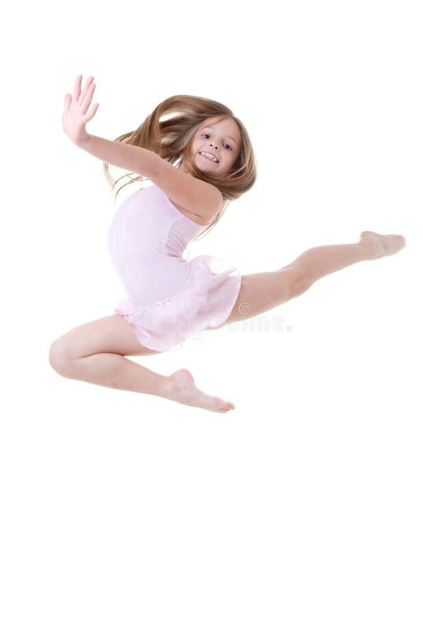 Balletttänzersprung stockfotos