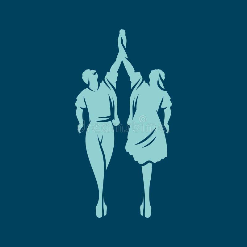Balletttänzerzeichen stock abbildung