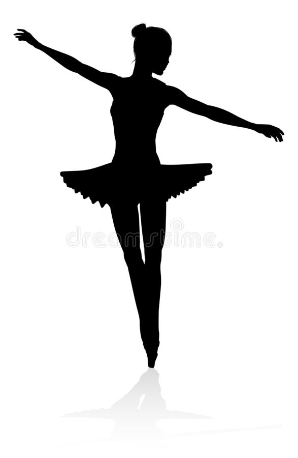 Ballettt?nzerschattenbild vektor abbildung