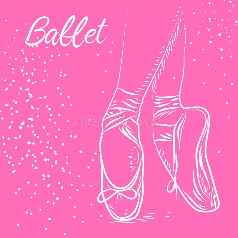 Balletttanz-Studiosymbol - Vektorillustration ENV 10 vektor abbildung