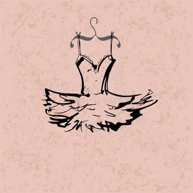 Ballettutu royalty-vrije illustratie