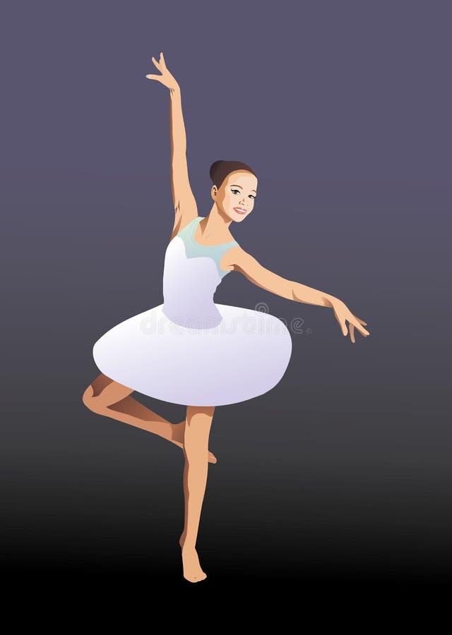 ballgames το χορεύοντας κορίτσι απομόνωσε το λευκό επίσης corel σύρετε το διάνυσμα απεικόνισης απεικόνιση αποθεμάτων