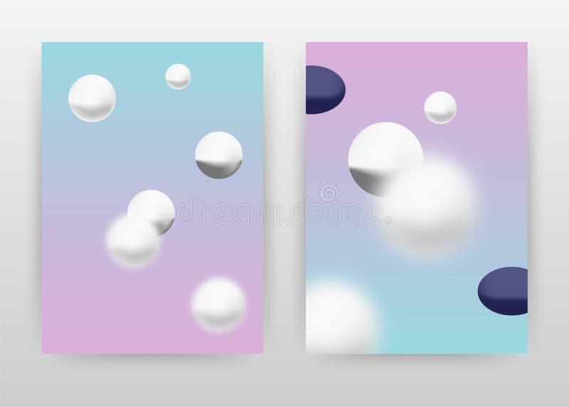 Ballgeschäfts-Hintergrundentwurf der geometrischen Runde purpurroter für Jahresbericht, Broschüre, Flieger, Plakat Abstrakte Bros stock abbildung