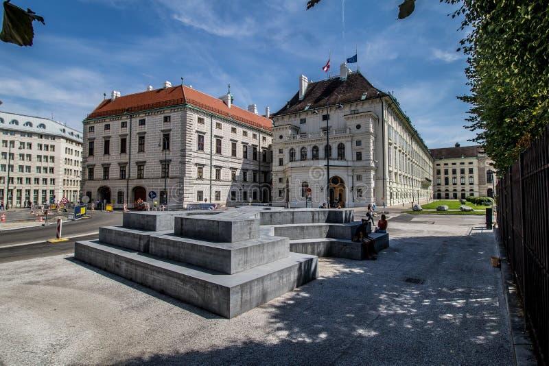 Ballhausplatz - Vienne - l'Autriche photo libre de droits