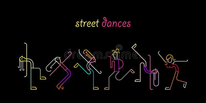 Balli della via illustrazione di stock