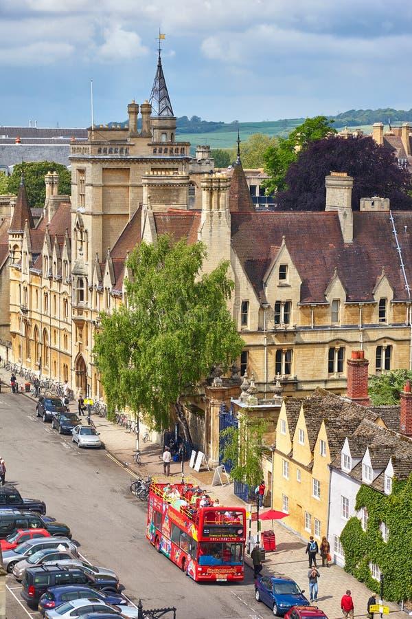 Balliol szkoła wyższa na Szerokiej ulicie uniwersytet w oksfordzie england zdjęcia stock