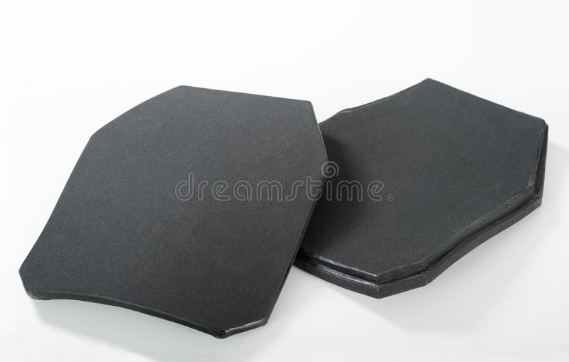 Ballistic insert. For bulletproof armor stock photos