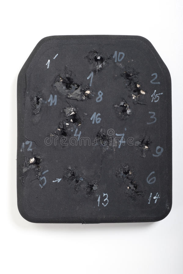 Ballistic insert for bulletproof. Armor stock photo