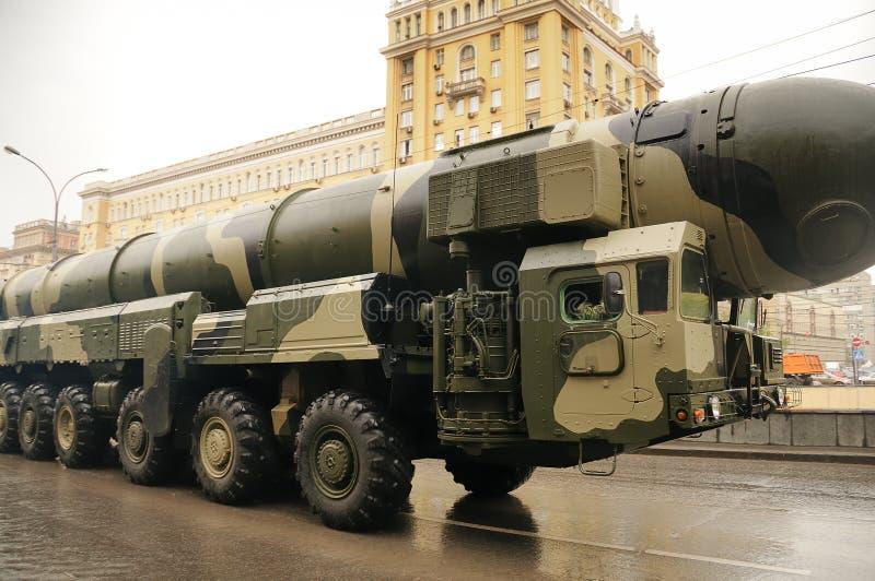 Ballistic nuclear missile stock image