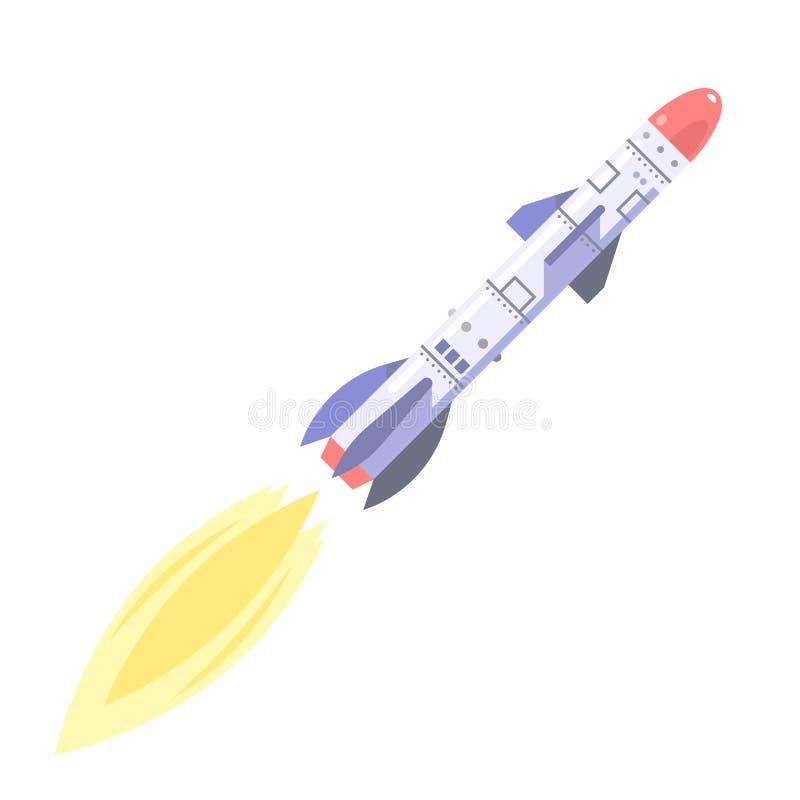 Ballistisch projectiel stock illustratie