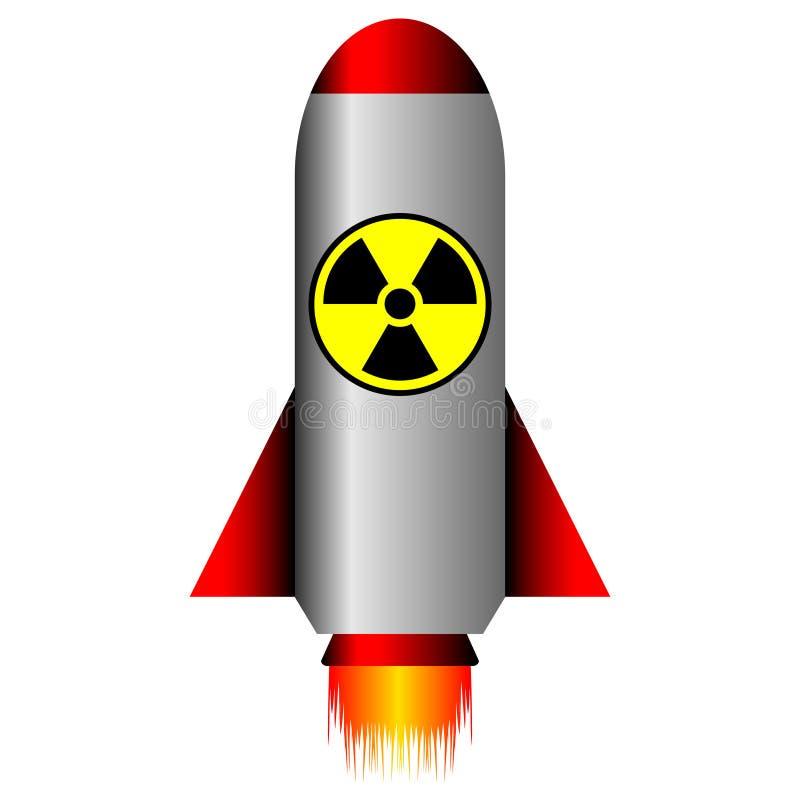Ballistische Kernrakete lizenzfreie abbildung