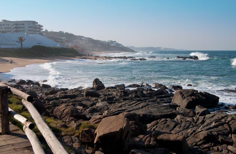 Ballito,新生的夸祖鲁,南非海岸线  库存图片