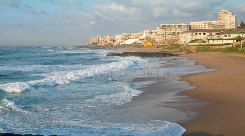 Ballito,新生的夸祖鲁,南非海岸线  免版税库存图片