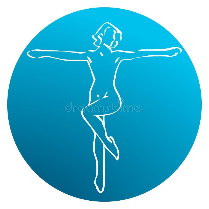 Ballo & studio relativo alla ginnastica illustrazione vettoriale