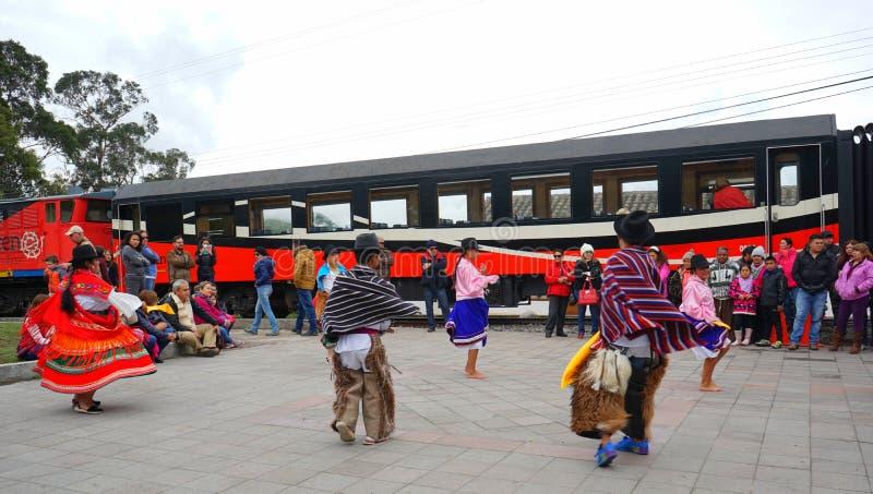 Ballo andino in en Ecuador Danza/dell'Ecuador Andina immagine stock libera da diritti
