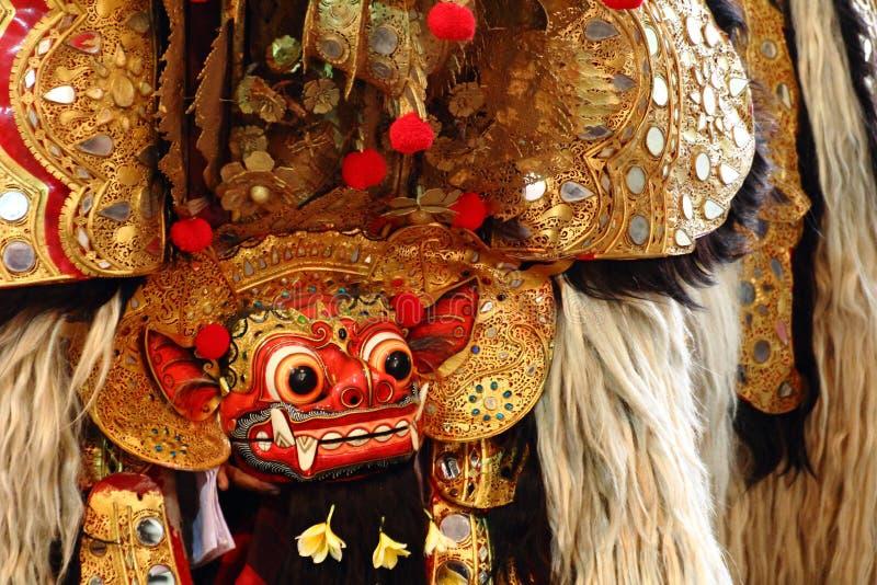 Ballo Bali, Indonesia di Barong fotografia stock