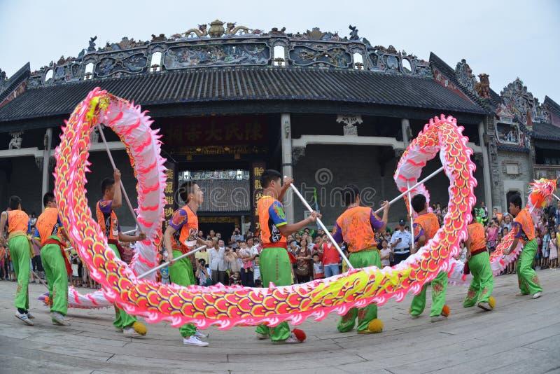 Ballo cinese del drago immagine stock libera da diritti