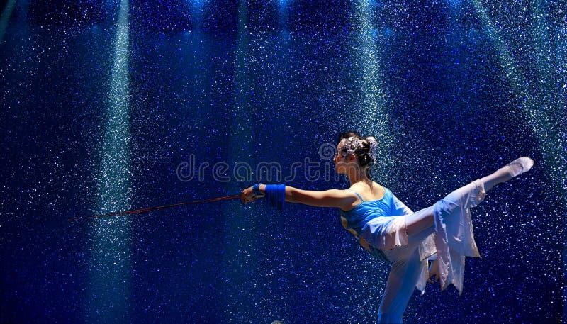Ballo cinese del gruppo   fotografia stock