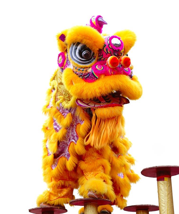Ballo cinese del leone fotografia stock libera da diritti