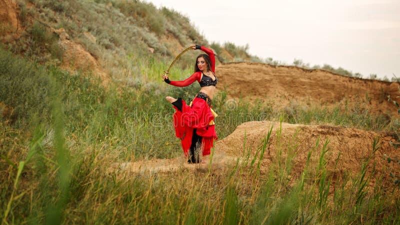 Ballo con una spada Stile tribale immagini stock