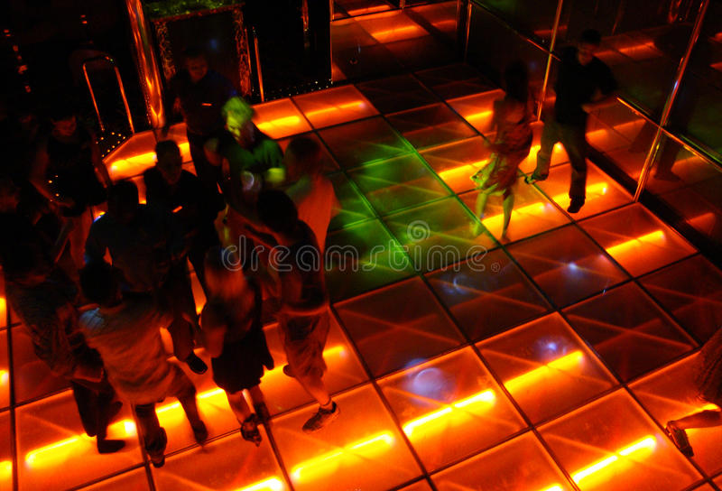 Ballo corridoio di stile della discoteca fotografia stock libera da diritti