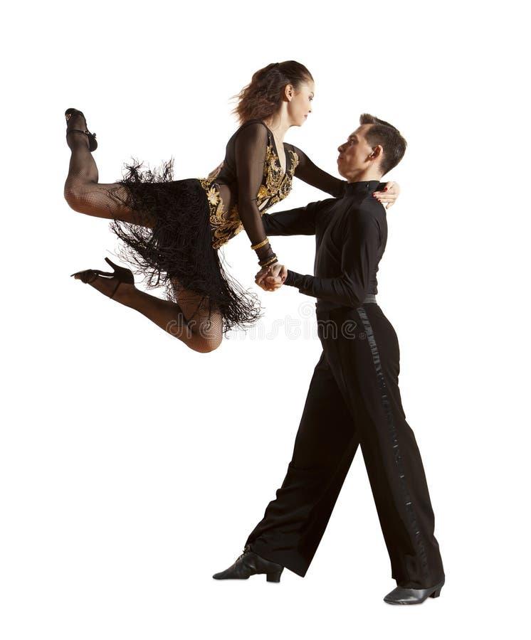 Ballo da sala di dancing delle coppie di ballo immagine stock libera da diritti