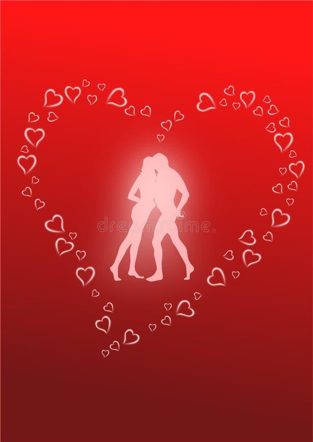 Download Ballo degli amanti illustrazione vettoriale. Illustrazione di cuori - 7316745