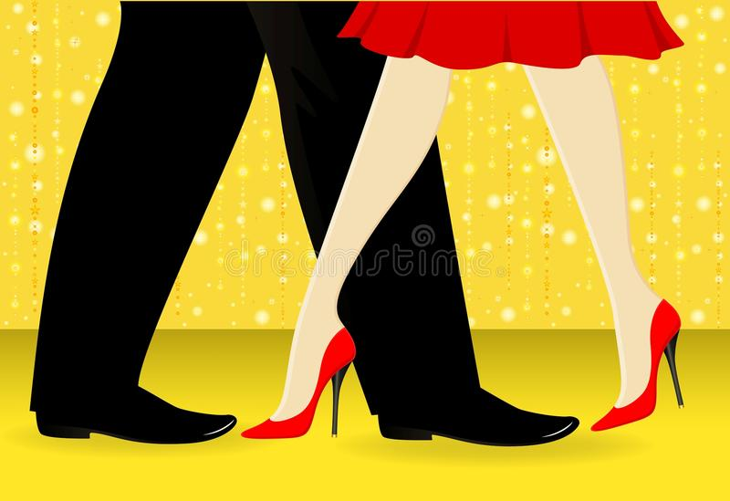 ballo dei piedini royalty illustrazione gratis